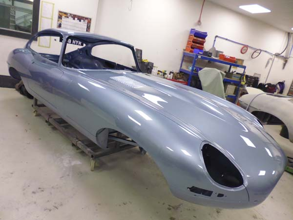 1963 Jaguar Series 1 E Type XKE 3.8 Litre Fixed Head Coupe Right Hand Drive in Opalescent Silver Blue 0116