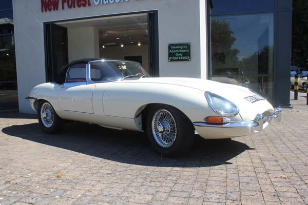 1964 Jaguar Series 1 E Type XKE 3.8 Litre Drop Head Coupe Roadster Left Hand Drive in Old English White 0048 1